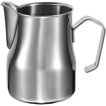 yunhigh latte in acciaio inox schiumare brocca scrematrice versare brocca per barista cappuccino espresso amanti del caffè latte art latte frothers- 350ml