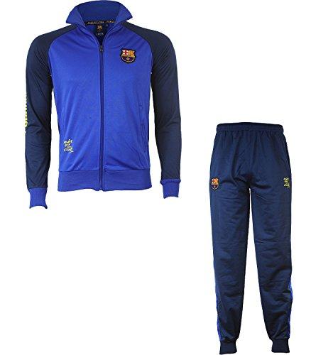 Trainingsanzug Barça, offizielles Produkt von FC Barcelona, Kindergröße, für Jungen 10 Jahre marineblau - Barcelona Fc Mütze Offizielle Messi