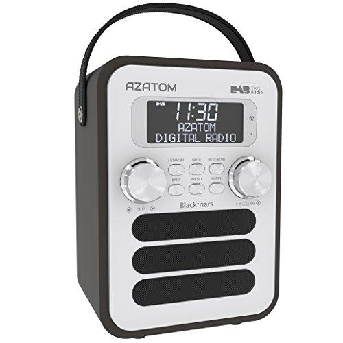 Blackfriars Retro DAB/DAB+ Digital FM Portable Radio/Alarm Clock/Real Wood Effect Finish/Mains Powered/Rechargable Battery/Subwoofer / Premium Stereo Sound (Black Ash)