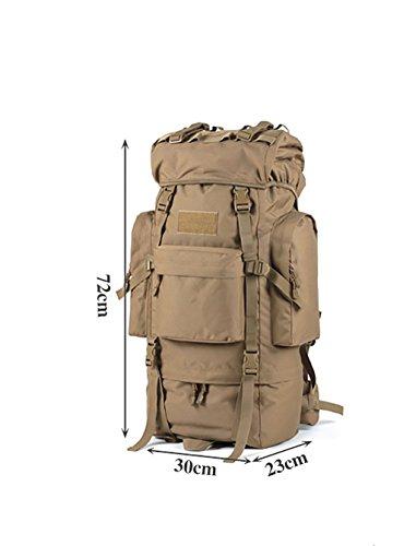 zaino trekking Maschio / Femmina 65L Alpinismo Bag / Borsa a tracolla / Multi-purpose di viaggio zaino impermeabile esterna Zaini da escursionismo ( Colore : C , dimensioni : 65L-72*30*23cm ) B