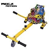 Mega Motion Hoverkart Sitzscooter Go Kart Kartsitz Elektrokart Hoverseat für Hoverboard Self Balance Scooter 6.5', 8', 10' mit langlebigem PU-Rad Sicherer für Kinder - Alle Altersgruppen (hip)