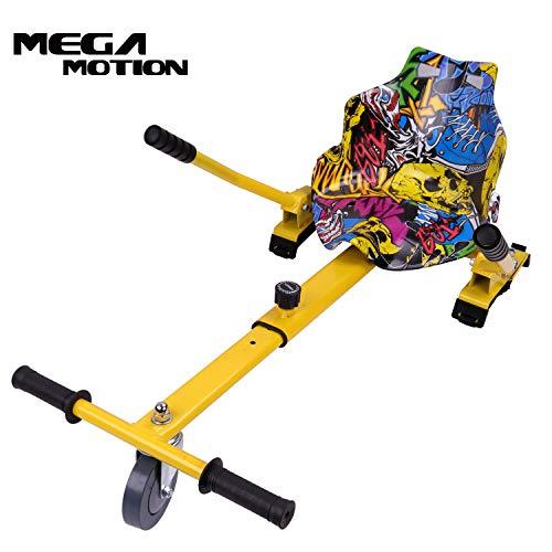"Mega Motion Hoverkart Sitzscooter Go Kart Kartsitz Elektrokart Hoverseat für Hoverboard Self Balance Scooter 6.5\"", 8\"", 10\"" mit langlebigem PU-Rad Sicherer für Kinder - Alle Altersgruppen (hip)"