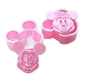 Aolevia 2pcs Emporte-Pièces Moule de Mickey Mouse DIY Pour gâteau/Biscuit/Cookie/Chocola/Tarte