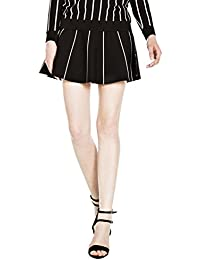 Kling Women's Tennis Match Black Knitted Skirt