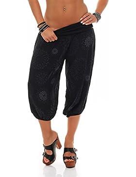 malito breve Pantaloni della tuta con estivo Print Sweatpants Baggy 7182 Donna Taglia Unica