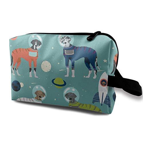 Deutsche Dogge Weltraum Astronauten Stoff Hund Multifunktionskoffer Kulturbeutel Reisemakeup Kosmetiktaschen