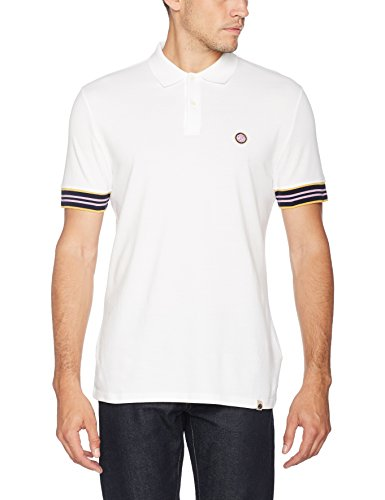 Pretty Green Herren Poloshirt Rivington Polo Weiß