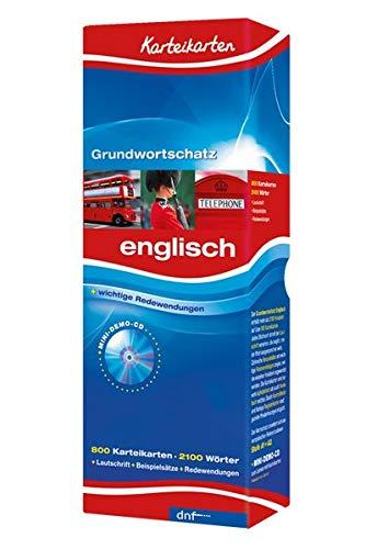 Karteikarten Grundwortschatz, Englisch Niveau A1+A2