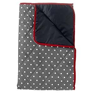 dunkelgraue picknickdecke 140x180cm gepolstert amazon. Black Bedroom Furniture Sets. Home Design Ideas