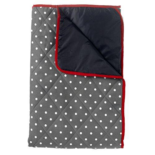 Dunkelgraue Picknickdecke 140x180cm (gepolstert)