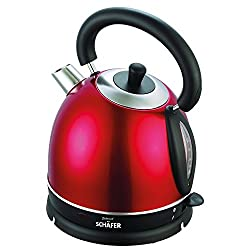 SCHAEFER® 1,8 L Retro-Design Wasserkocher Wasserkessel Teekessel sales by JOLTA® (Rot)