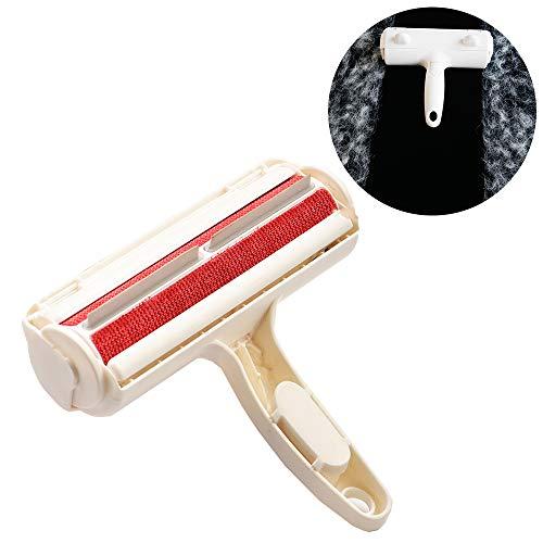 reutilizable y duradero El proceso de limpieza es tan simple que no necesita rasgar el papel ni enchufarlo. Simplemente desplácese hacia adelante y hacia atrás para recoger todo el pelo de la mascota en sus muebles. Además, tiene una capacidad de lim...