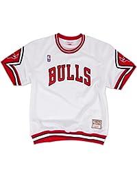 Chicago Bulls Mitchell & Ness NBA Authentic 1987-88 Home Shooting Shirt - White