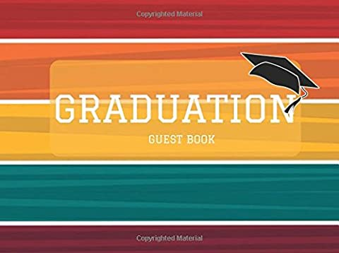 Graduation Guest Book: Colorful Stripes Message Book, Keepsake, Scrapbook, Memory Year Book | High School, College, University Gifts For Friends, ... to Write In | Unlined Blank Pages |
