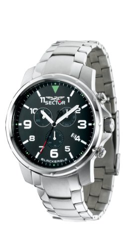 Sektor r3273689001Quarz-Uhr Chronograph für Herren, Edelstahl-Armband Silber