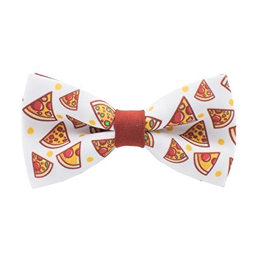 Bow Tie House Slice of Pizza bow tie fast-food pattern pre-tied shape, by - Pretied Bow Tie