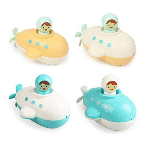 4 Stücke Badespielzeug Set Kleinkinder Uhrwerk U-Boote Badespielzeug Spaß Pädagogisches Spielzeug für Kleinkinder, Kinder, Jungen, Mädchen (Zufällige Farbe)