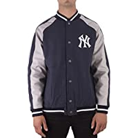 Majestic Chaqueta Mlb New York Yankees Letterman azul gris talla  L (Large) 148f1764562