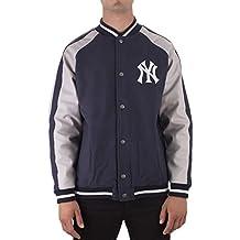 Majestic Chaqueta Mlb New York Yankees Letterman azul/gris talla: L (Large)