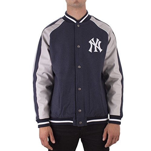 Majestic Veste Mlb New York Yankees Letterman bleu gris taille  M (Medium) 94220e36ea4