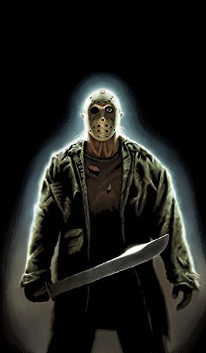 on Voorhees Friday the 13th Halloween Window Decoration includes 34.5x60 Backlit Poster by WOWindow Posters (Jason Halloween 13)