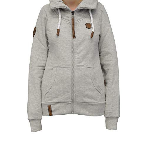 TrendiMax Damen Sweatjacke Kapuzenjacke Full Zip Sweater