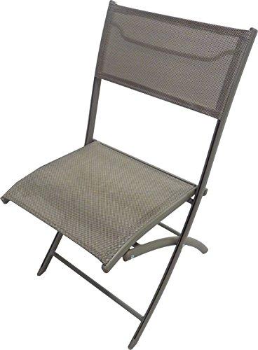 DCB GARDEN Chaise Pliante Cappuccino 46 x 40 x 82 cm C43-CAPPUCCINO