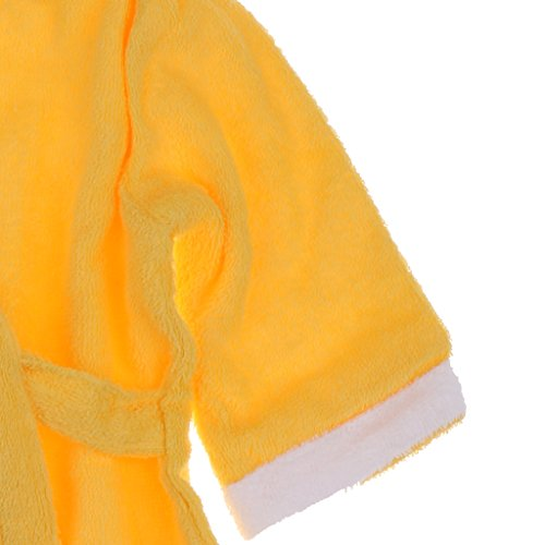 Magideal Animal Baby Robe Hooded Adorable Baby Bathrobe Soft Cotton Yellow Lion