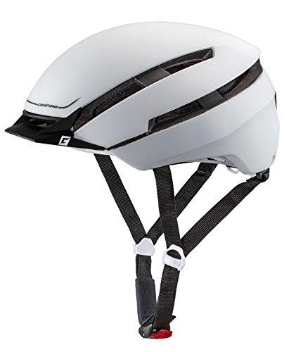 Cratoni Fahrradhelm 'C-Loom' (City), Größe S/M (53-58cm), gummiert, weiß/schwarz (1 Stück)