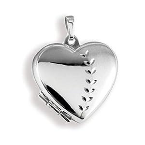Anhänger Medaillon Herz 925 Silber Herzform zum öffnen/Bildeinlage