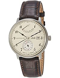 Zeppelin Watches Herren-Armbanduhr XL Analog Automatik Leder 70604