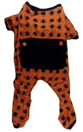 worldpet Halloween Spinnen orange & schwarz Hund Schlafanzüge, Medium, Orange