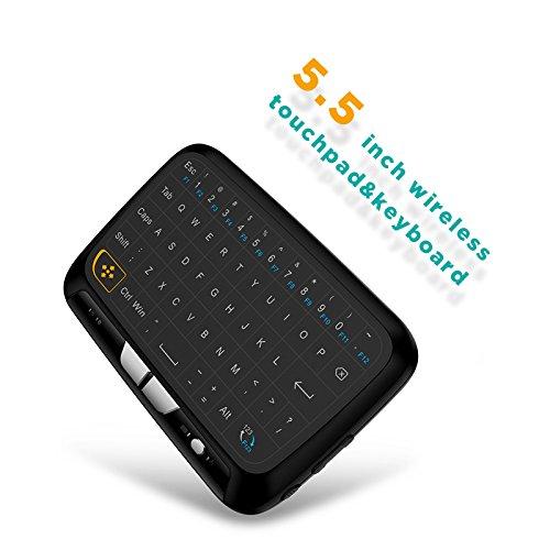Raspberry Pi Tastatur Surenhap, Mini Tastatur/Multimedia H18 mit Touchpad Maus, fernsteuern Sie Ihren Android TV Box, Smart TV, HTPC, IPTV, Laptop usw, Raspberry PI PS3 (Schwarz)
