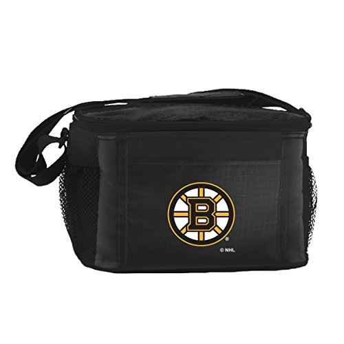 nhl-boston-bruins-insulated-lunch-cooler-bag-with-zipper-closure-black-by-kolder