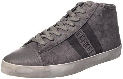 Bikkembergs Twentyfive 139 M.Shoe M Suede, Sneaker, Uomo, Grigio (Grey), 43
