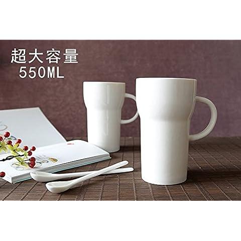 Tazón de agua cerámica personalidad simple desayuno tazón de agua marca creativa Inicio tazas de tazas de café tazas