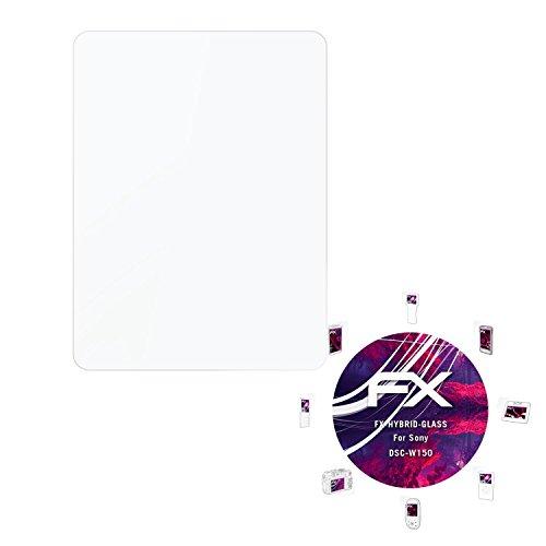 atFoliX Kunststoffglas Folie für Sony DSC-W150 Glasfolie - FX-Hybrid-Glass elastische 9H Kunststoff Panzerglasfolie - besser als Echtglas - Dsc-w150 Sony