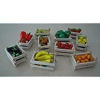 Cassette frutta miniatura per presepi Napoletani e modellismo--- Set da 5 cassette