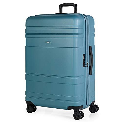 JASLEN - Valigia trolley 70 cm ABS PC. Grande capacità. Rigida, resistente e leggera. Manico telescopico, 2 maniglie, 4 ruote doppie. Luccheto TSA 73170, Color Blu