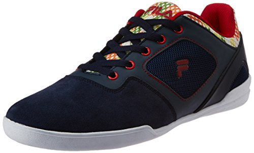 Fila Men's Damiano Navy and Red  Sneakers -9 UK/India (43 EU) 41FsqiUiaRL