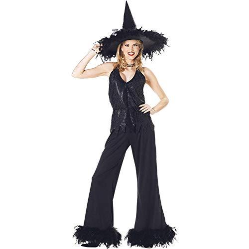 TIANFUSW Herrin Hexenkostüm Hexe Sexy Halloween Kostüm für Frauen, B, S