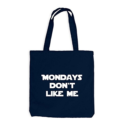 Iuta sacchetto–Mondays Don' t Like Me–Lunedì Fun Work blu navy