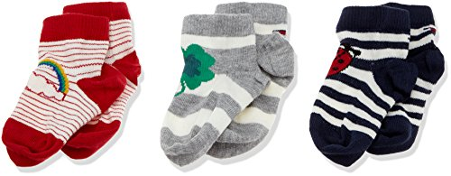 Tommy Hilfiger Unisex TH BABY LUCKY CHARMS GIFTBOX 3P Socken, Mehrfarbig (Midnight Blue 563), 19-22 (erPack 3 (Hilfiger Socken Tommy Baby)