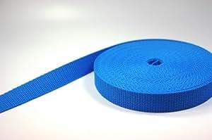 50m PP Gurtband - 40mm breit - 1,4mm stark - blau (UV)