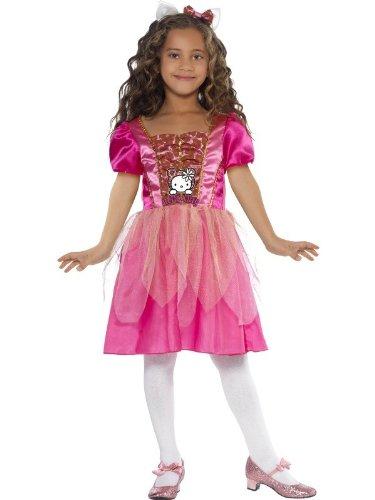 o Kitty Kostüm Kittykostüm für Mädchen Katze Prinzessin Kleid Gr. 110-122 (S), 128-134 (M), Größe:M (Hello Kitty Kostüm Für Mädchen)