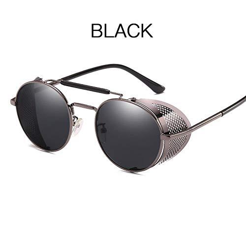JesseBro76 Steam Punk Brillen Sonnenbrillen Retro Color Film Reflective Toad Brillenpistole grau & grau