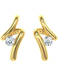 TBZ - The Original 18k (750) Gold and Diamond Stud Earrings