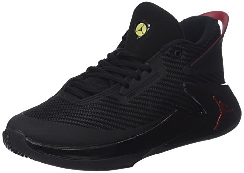 Nike Jungen Jordan Fly Lockdown BG Basketballschuhe, Schwarz (Black/Varsity Red/Dandelion 012), 37.5 EU