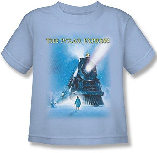 Polar Express - - Juvy Big Train T-Shirt, Small (4), Light Blue