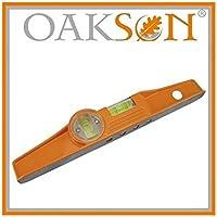 Oakson 767201 Nivel forma de trapecio magnético, 250 mm
